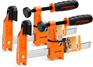 Jorgensen 2-Pack Steel Bar Clamp Set, 4-inch Light Duty, 300 Lbs Load Limit, for Woodworking