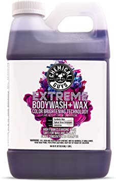 Chemical Guys CWS20764 Extreme Bodywash & Wax Foaming Car Wash Soap (Works with Foam Cannons, Foam Guns or Bucket Washes),64 oz., Grape Scent: image