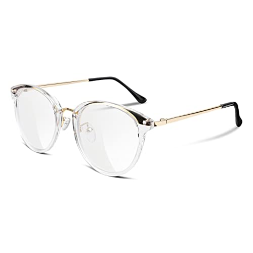 3638dc708b FEISEDY Women Vintage Glasses Frames Round Non Prescription Eyewear Clear  Lens B2260