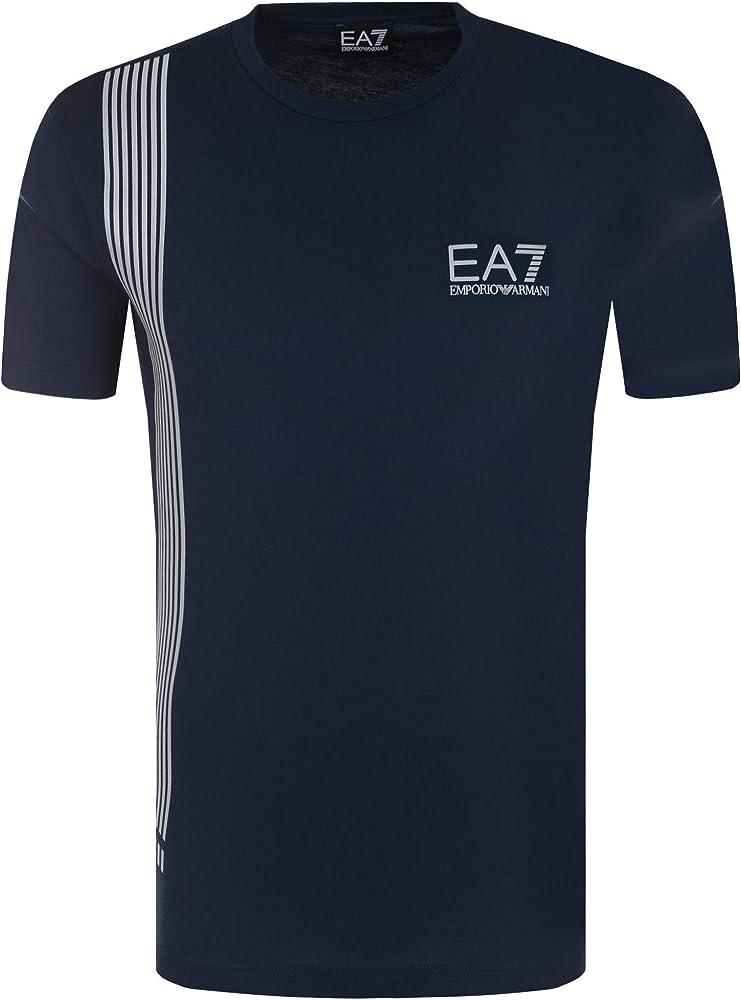 Emporio armani maglietta t-shirt da uomo ea7 a maniche corte 95% cotone 5% elastan 3ZPT70 PJ02Z