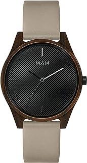Mam originals Mens Analog Japanese quartz Watch with Leather bracelet ARENO 618