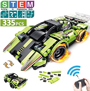 STEM Building Toys for Kids with 2-in-1 Remote Control...