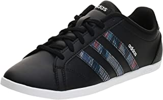 Adidas CONEO QT, Women's Tennis Shoes, Black (Core Black/Core Black/Active Purple), 5.5 UK, (38 2/3 EU),F37035