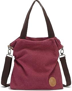 Myhozee Handtasche Damen Canvas Umhängetasche,Taschen Damen Strandtasche Schultertasche Crossover Bag für Mädchen Frauen