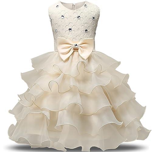 f5f3f0af7d10 NNJXD Girl Dress Kids Ruffles Lace Party Wedding Dresses
