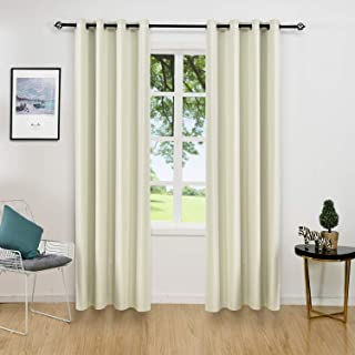 ALLBRIGHT Thermal Insulated Grommet Blackout Curtains for Bedroom (2 Panels, 52 x84, Cream White)
