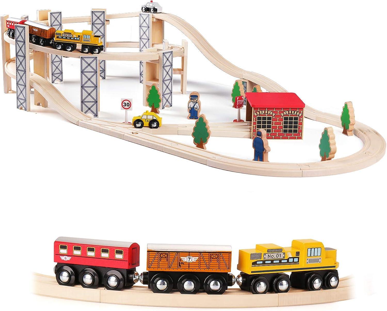 Sainsmart Jr Train Set Toy With Rail High Level Part 50 Pcs