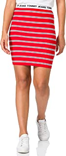 Tommy Jeans Tjw Stripe Bodycon Mid Skirt Gonna Donna