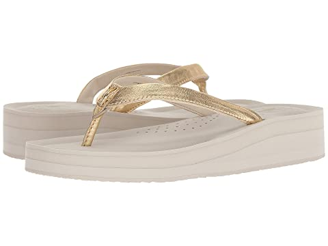 Pinch Lobster Flip-Flop, Ch Gold Leather/Pumice Stone