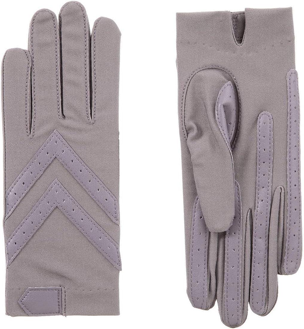 Isotoner Women's smartDRI Chevron Shortie Touchscreen Gloves - 30004 (Large/XL, Dusty Lavender)