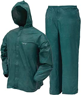 FROGG TOGGS Men's Ultra-Lite2 Waterproof Breathable Protective Rain Suit, Green, Large