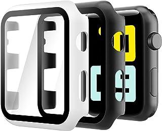 Hianjoo 2 Piezas Funda con Protector de Pantalla Templado Compatible con Apple Watch 38 mm, PC Cubierta Estuche Compatible...