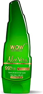 WOW Aloe Vera Multipurpose Beauty Gel for Skin and Hair, 130ml + 20ml