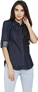 Campus Sutra Women's Denim Casual Shirt