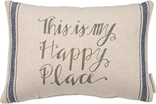 Primitives by Kathy Striped Throw Pillow, 15 x 10-Inch, This is My Happy Place