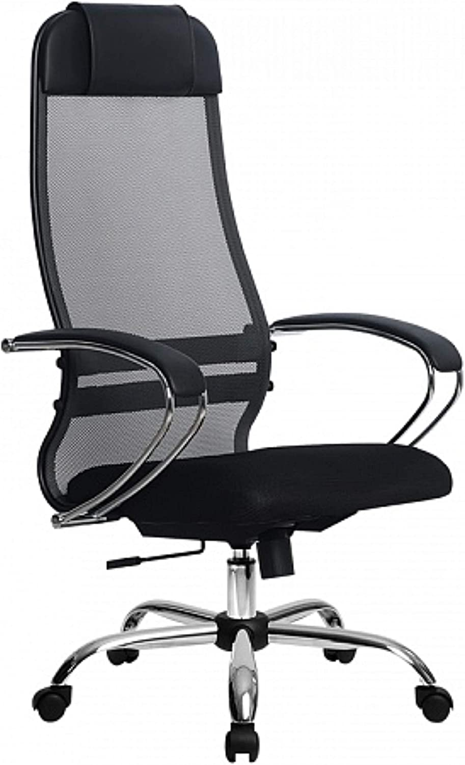 High Back Desk Chair with Adjustable Lumbar Support /& Thick Seat Cushion Samurai Chair Executive Office Chair Black Mesh Office Chair,Heavy Duty Metal Base,300lb