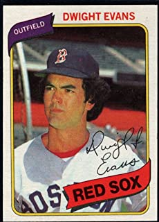Baseball MLB 1980 Topps #405 Dwight Evans VG Red Sox