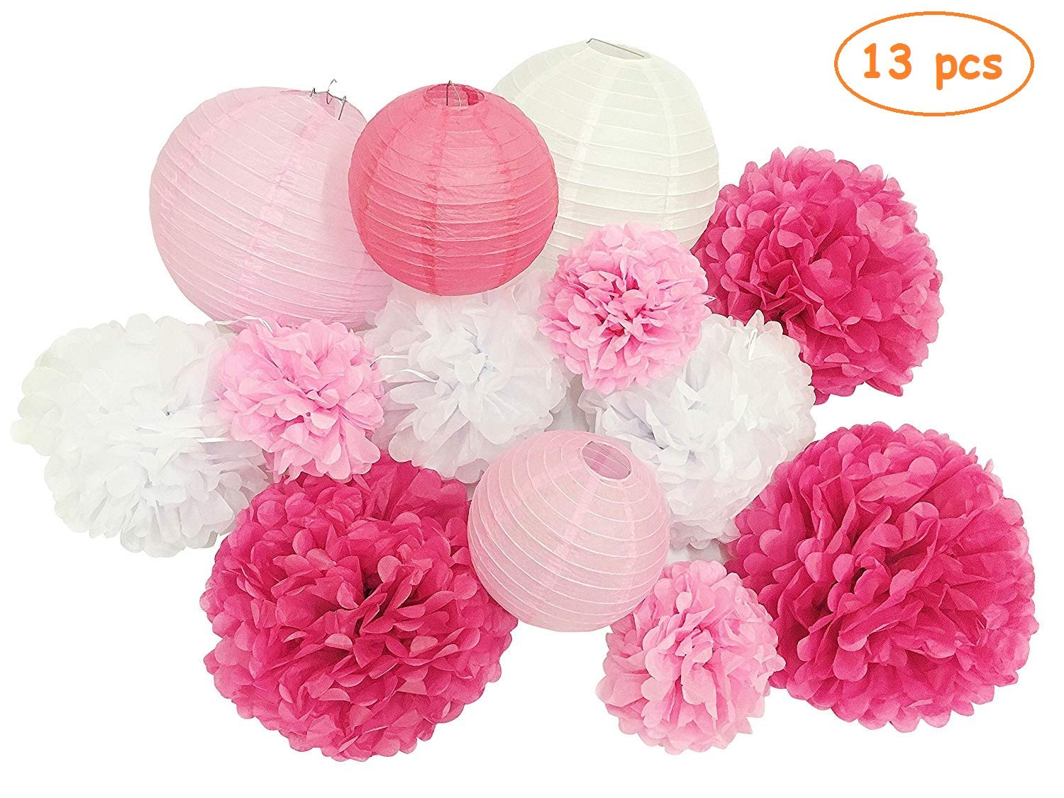 French//Parisian Birthday Party Ideas Pink Gold White Black Paris Party Decorations Tissue Paper Pom Pom Honeycomb Ball//Paper Lantern for Girls Birthday Decorations Ooh La La Baby Shower Decorations Furuix
