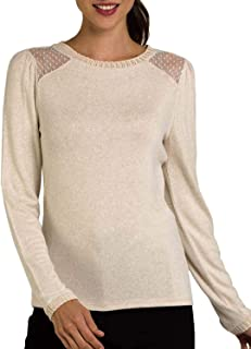 Naf Naf Pullover Plumeti Beige for Woman