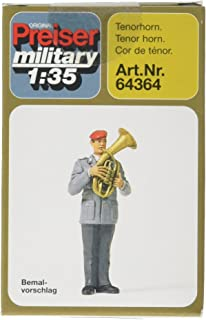 Preiser 64364 Military Modern German Army (BW) Unpainted Band (Plastic Kit) Male Tenor Horn Player 1:35 Scale Figure Model