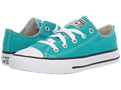 Converse Kids Chuck Taylor(r) All Star(r) Seasonal Ox (Little Kid) (Turbo Green) Girls Shoes