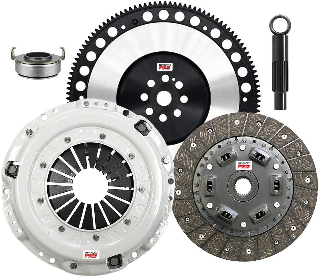 ClutchMaxPRO Performance Stage 1 Clutch Kit with Flywheel Compatible with 97-99 Acura CL 92-01 Honda Prelude F22 F23 H22 H23 90-02 Honda Accord CP08014HDFW-ST1