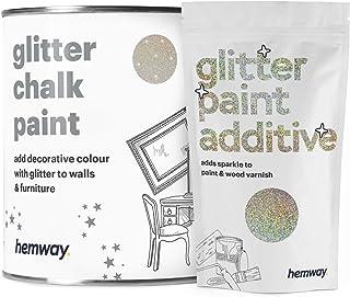 Hemway - Pintura de tiza con acabado mate para pared y muebles (1 litro992 g estilo vintage 25 colores brillantes dispo...