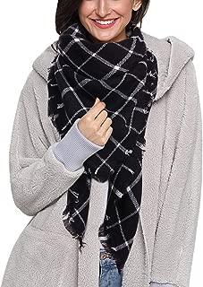 Dora Bridal Lady Women Blanket Oversized Tartan Scarf Wrap Shawl Plaid Cozy Checked Pashmina