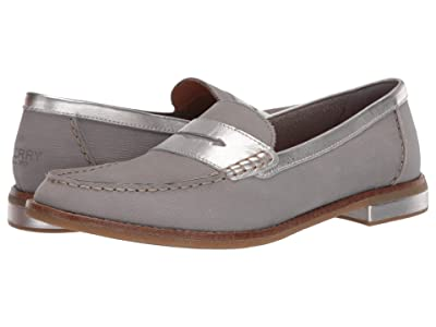 Sperry Seaport PlushWave Woven Penny Loafer (Grey) Women