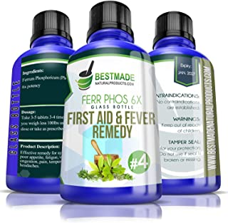 Ferrum Phosphoricum 6X Glass Bottle | First Aid and Fever Remedy