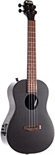 KLOS Guitars Carbon Fiber Deluxe Acoustic Electric Ukulele Package (Ukulele, Gig Bag, Rain Cover, Strap, Strap Pins)…