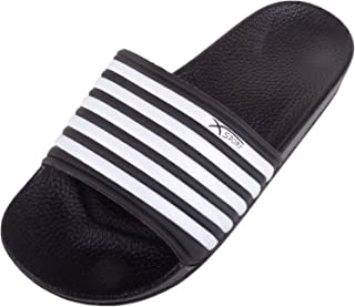 ABSOLUTE FOOTWEAR Mens Summer/Holiday/Beach Stripped Sliders/Shoes/Mules