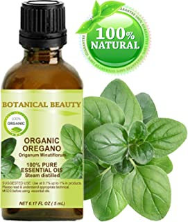 ORGANIC OREGANO ESSENTIAL OIL WILD GROWTH. 100% Pure Therapeutic Grade, Premium Quality, Undiluted. (0.17 Fl.oz - 5 ml.)