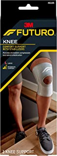 Best Futuro - 70005242170 FUTURO Comfort Knee Support with Stabilizers, Ideal for Sprains, Strains, and General Support, Breathable, Large grey Review