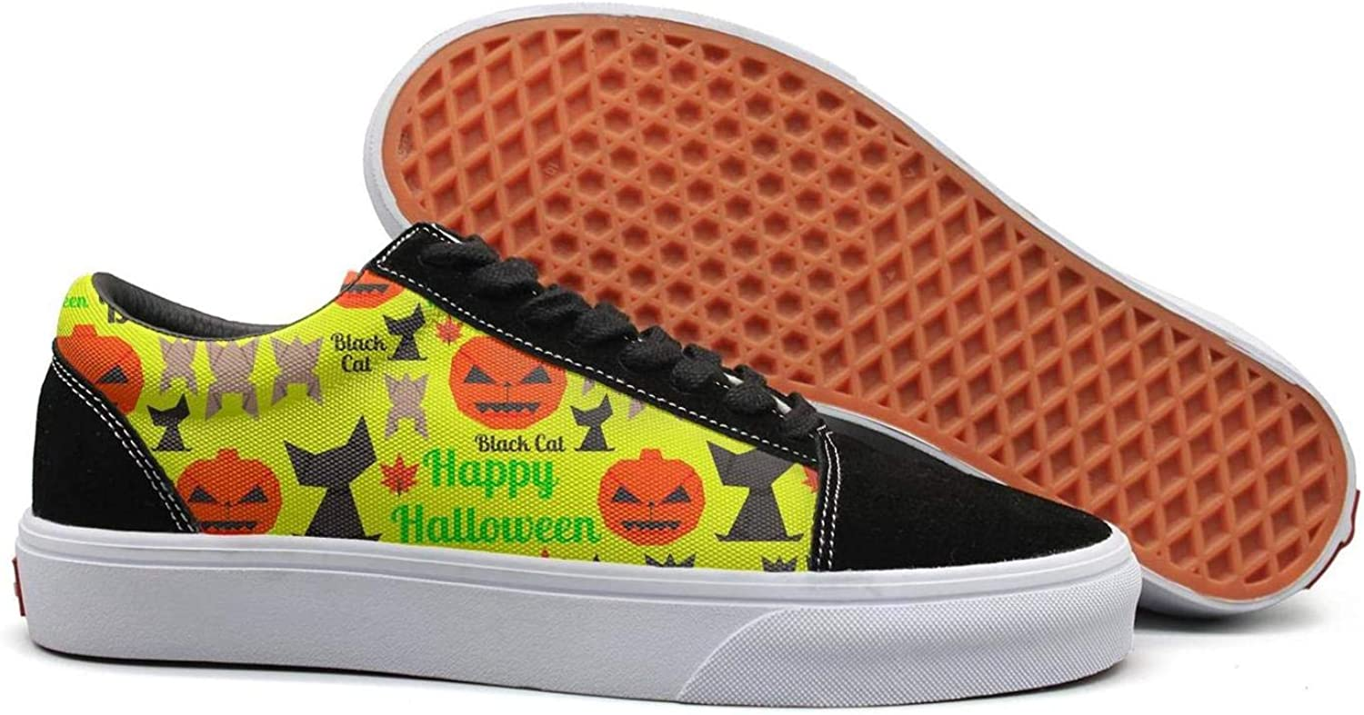 Wuixkas colorful Halloween Design Womens Canvas Upper Sneakers Lace up Popular Rubber Sole Loafer Canvas shoes