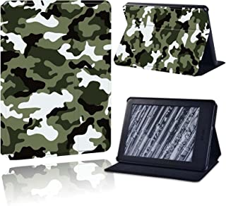 Case for Amazon Kindle 8/10Th Paperwhite 1/2/3/4 Tablet Camouflage Leather Pu Stand Protective Case Cover