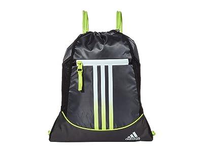 adidas Alliance II Sackpack (Grey Six/Sky Tint Blue/Semi Solar Slime) Bags