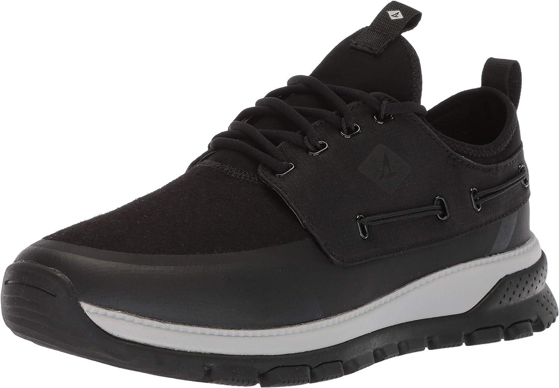 Sperry Top-Sider Men's Seamount Low Sneaker, Black, 11.5 M US