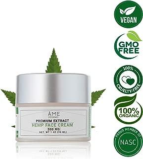 (500mg) Premium Hemp Extract Face Moisturizer Cream Organic Daytime Ageless Face Serum Jojoba Seed Oil Vitamin E Anti Aging Face Cream 0.5oz Made USA by ame d'essence