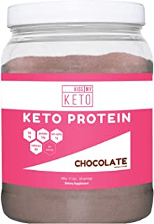 Kiss My Keto Protein Powder - Keto Collagen Supplement, Grassfed Collagen Peptides & MCT Oil Powder, Low Carb Keto Shake or Keto Coffee Creamer for Ketogenic Diets, 25 Servings (Chocolate)