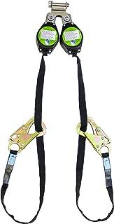 Peakworks V845528009TB Dual Self Retracting Lifeline (SRL), 9' Length, 100% Tie-Off, (2) Snap Hooks,Leading Edge Class A