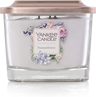 Yankee Candle Company Elevation Collection with Platform Lid Medium 3-Wick Square Candle, Passionflower