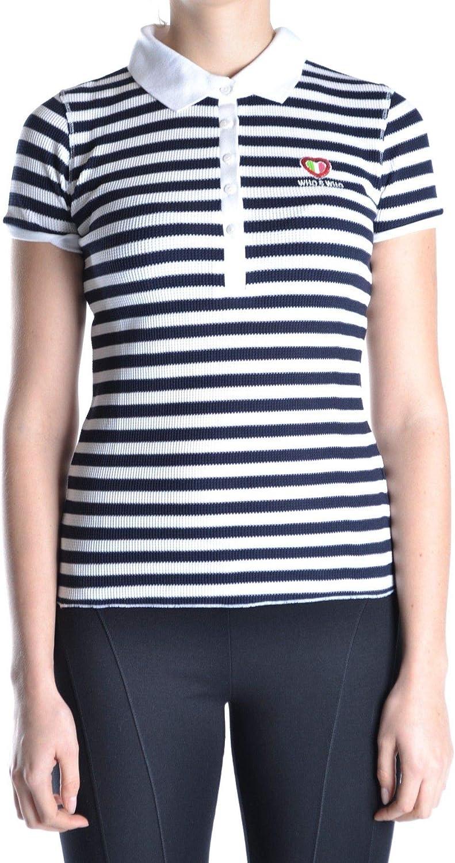 Who's Who Women's MCBI12762 bluee Polyester Polo Shirt