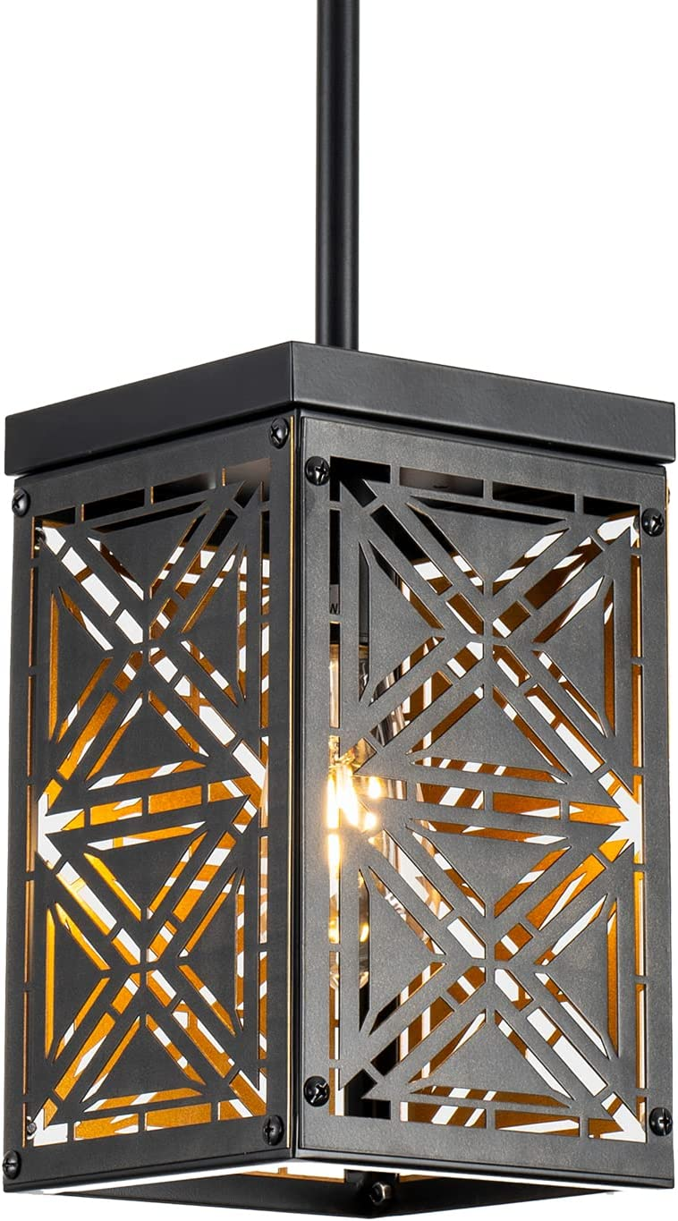 Retro Free Shipping New Industrial Rectangle Flush NEW Mount Ceiling Light Fixture for