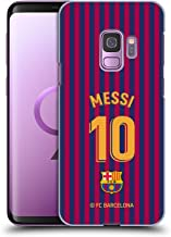 Official FC Barcelona Lionel Messi 2018/19 Players Home Kit Group 1 Hard Back Case Compatible for Samsung Galaxy S9