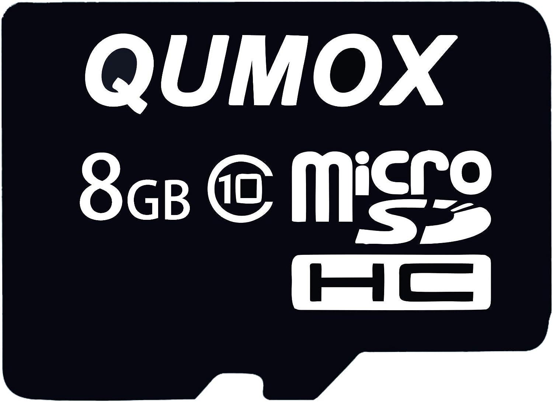 QUMOX 8GB 8 GB Micro SD HC SDHC Flash Memory Card Class 10 TF