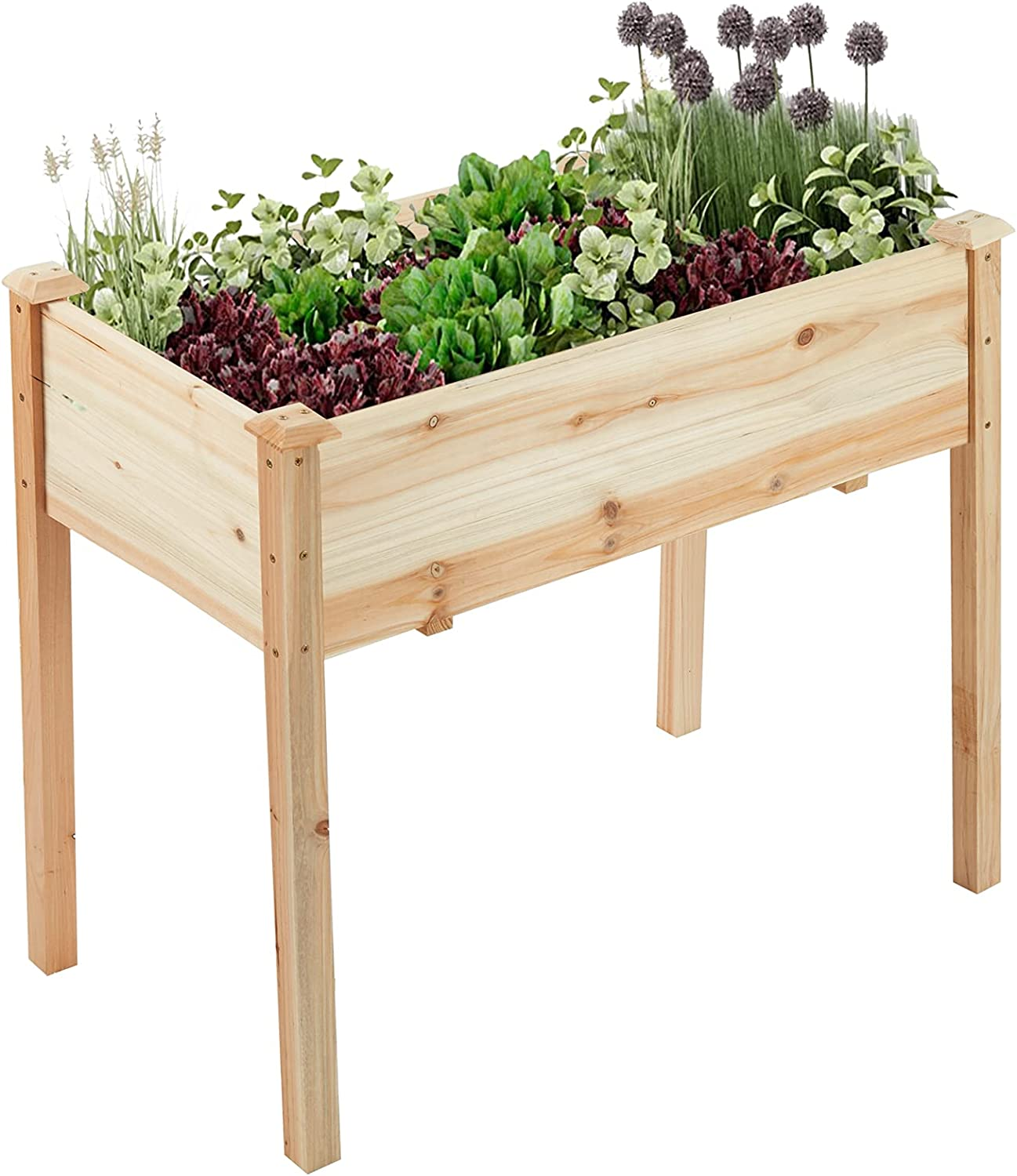 Garden 2021 new Raised Bed 33.2x17.7x29.33 inch Wood A surprise price is realized Box Natural Planter