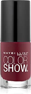 Maybelline New York Color Show Nail Lacquer, Wine and Forever, 0.23 Fluid Ounce