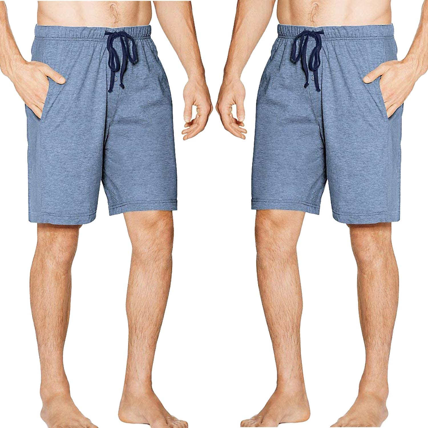 SGNOIEY Men's 5% OFF Sleep Shorts Limited price sale Cotton 100% Loung Knit