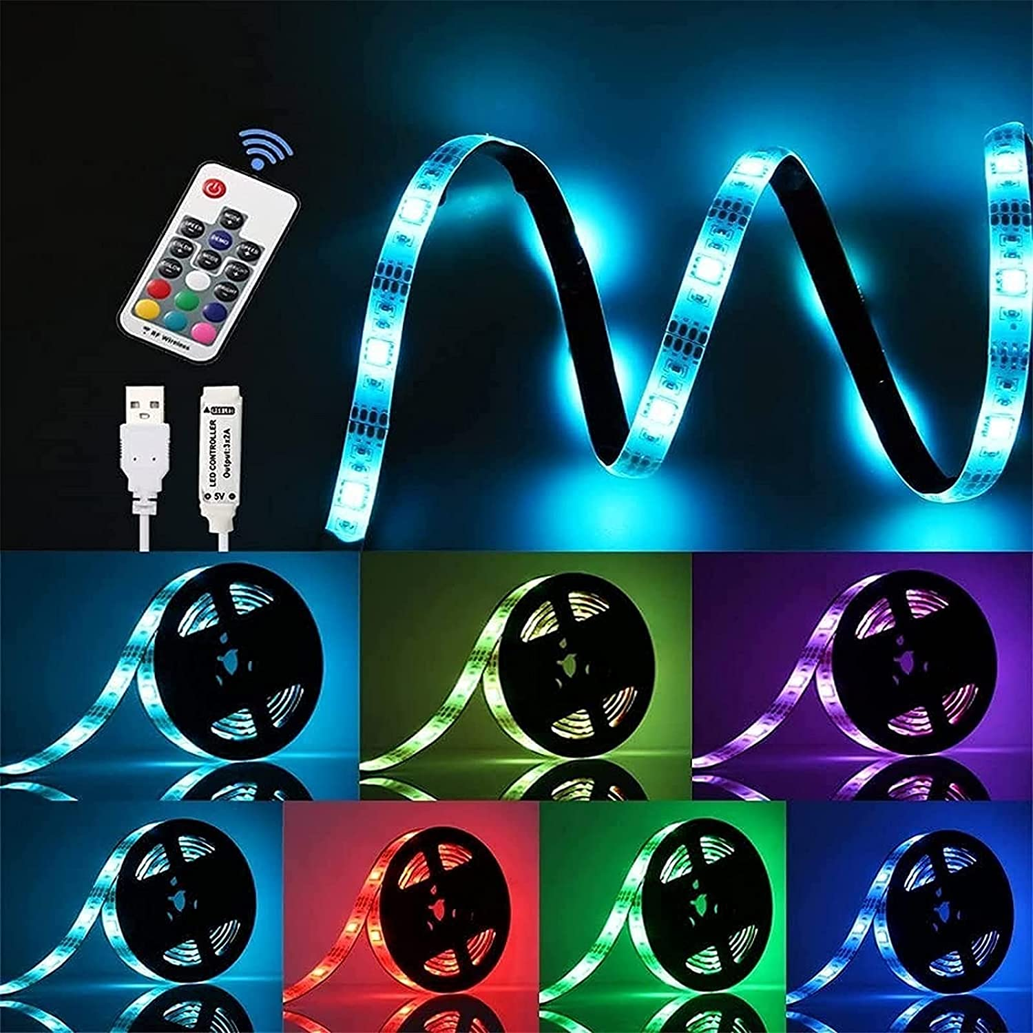 CXSKY RGB Selling Ranking TOP15 Led Strip Lights 5050 for Bedroom TV